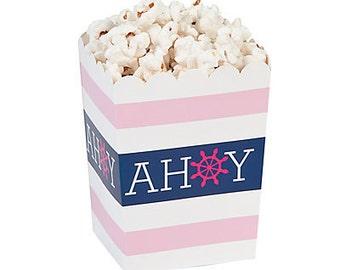 Nautical Girl Popcorn Boxes