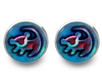 Lion King stud earrings Simba earrings Disney jewelry -with gift box