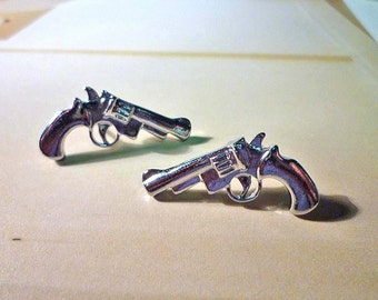 Pistol Stud Earrings, Gun Earrings