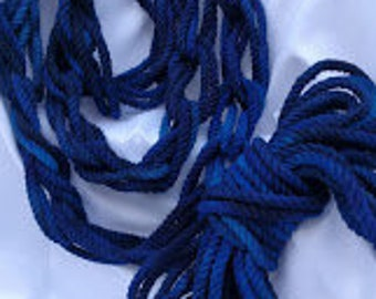 Deep Blues Dyed Cotton Rope