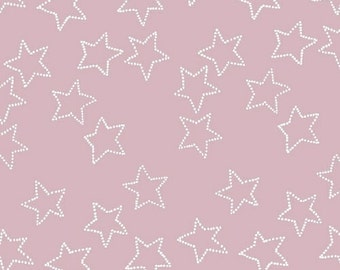Stella by Lotta Jansdotter for Windham Fabrics - Full or Half Yard Stars on Pink Mauve