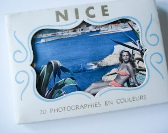 FOUND IN SPAIN -- Souvenir book of 20 beautiful pictures of Nice