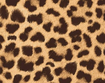 Leopard Print Fabric / On The Wild Side Fabric / Leopard Skin Fabric by the yard / Studio E 4034-33 / Fat Quarter and Yardage