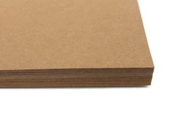 """50 Sheets Kraft Cardstock   Full Sheets   Scrapbook Paper   8.5""""x11"""" Kraft Paper   DIY Invitation   Rustic Cardstock   Brown Craft Paper"""