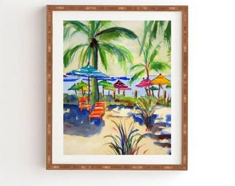 Caribbean Time Bamboo Framed Wall Art