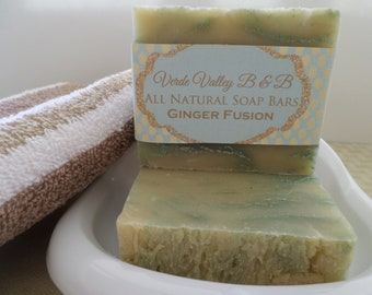 Ginger Fusion Soap,  Ginger Fusion Bar Soap , Ginger Fusion Soap Bar, Handmade Soap, Floral Soap, Natural Soap, Vegan Soap