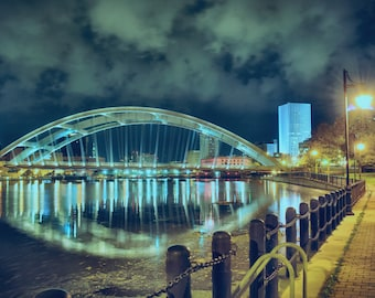Steelway Over the Genessee, Photography, Fine Art Photography, Night, City,  Rochester, Prints