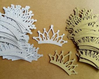 2 Inch Crowns / 100 Pieces / Tiara Confetti / Princess Party Decorations / Tiara Party Decoration / Princess Party Confetti / Crown Confetti