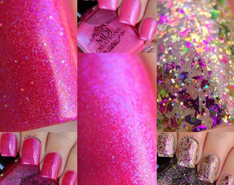 New!  Woman of God trio ~ Stay Positive, Be Brave & Spice of Life, Holographic Color Shift Glitter Flakie indie polish