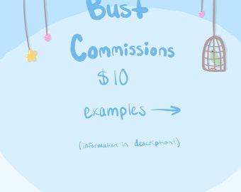 Bust Commissions (Digital)