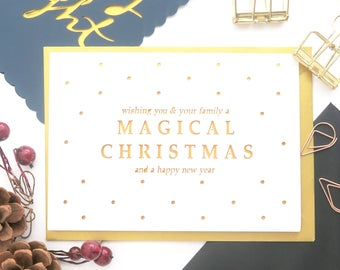 Magical Christmas card, Family Christmas cards, Colleague Christmas cards, Friend Christmas card, Christmas card for men, Christmas card set