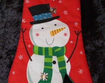 Glamorous Frosty Snowman Oven Mitt - One Size