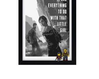 The Last of us Minifigure frame Lego