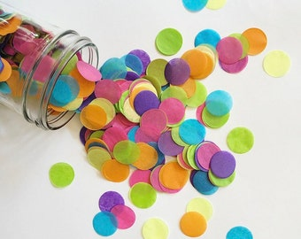 NEON JOY tissue paper confetti 90's theme hot pink yellow lime graduation 30th birthday party baby bridal shower cale table blacklight Eid