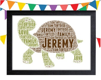 Personalized Gift Tortoise Gift For Animal Lover Gifts Wall Art Wall Prints Wall Art Wall Decor Personalised Gift Wall Art Prints