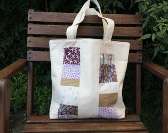 Handmade, patchwork tote bag