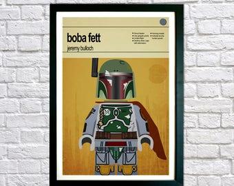 Star Wars Poster, Boba Fett, Framed print, Star Wars Print, Children Bedroom Art, Boys bedroom poster, Kids Room Decor, Childrens Wall Art