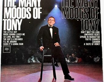 Vintage 1960s Tony Bennett LP Vinyl Record Albums Stereo Pop Classic Many Moods of Tony, I Wanna Be Around, I Left My Heart In San Francisco