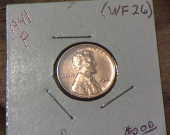 1941-P Lincoln Wheat Penny (WF26)