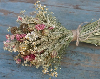 Rustic Country Dried Flower Bouquet