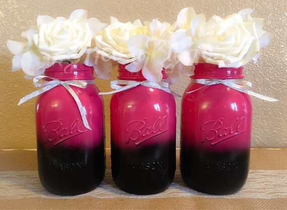 Baby Shower Decorations Black Pink And Silver Centerpieces