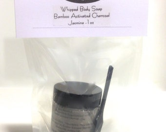 Bamboo Activated Charcoal Whipped Body Soap -  SAMPLE Size 1oz