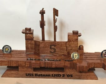 2 1/2 D Aircraft Carrier Coin Holder (USS Bataan) other ships available