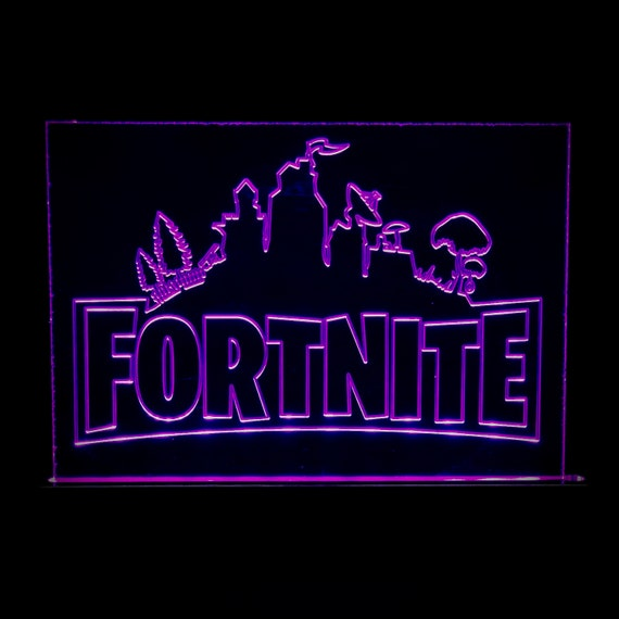 Edge Lit Fortnite Sign