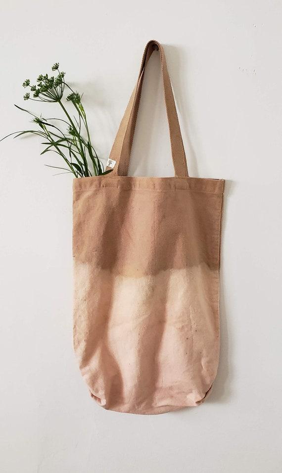 Botanically Dyed Canvas Tote Medium / Natural Dyed / Cotton Canvas Tote / Tote Bag /  Botanical Color / Hand dyed / Slow Fashion
