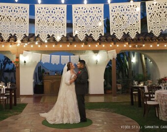 CORELLI - fine papel picado banners - custom color - wedding garland