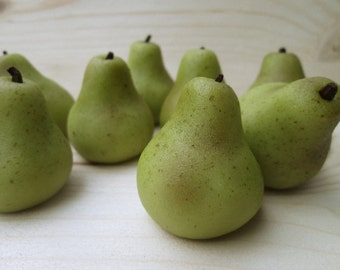Marzipan Pears (9) - marzipan fruit - 3D marzipan pear - perfect pear - pear cake topper - pear wedding cake decorations