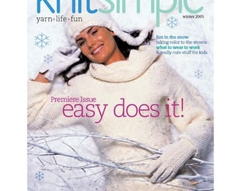 Knit Simple knitting magazine Winter 2005 Premier Issue