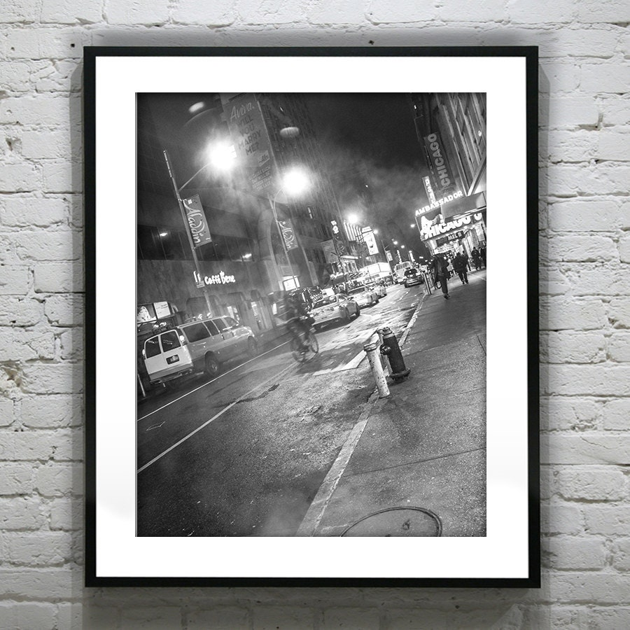 New York City Street Black and White Wall Art Photography Poster Print