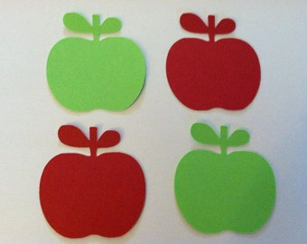 "2"" apples, paper apples, red and lime green apples, cardstock paper embellishments  (50 count)"