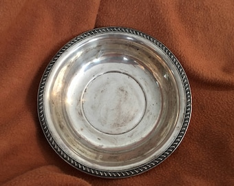 Sterling silver shallow bowl