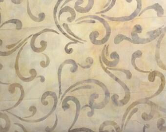 Robert Kaufman LAFAYETTE 2 (Vintage Swirl) Batik 100% Cotton Premium Fabric  - sold by 1/2 yard