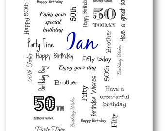 Unique wife card husband birthday card personalised personalised birthday card personalized 30th 18th 21st 40th 50th 60th 70th 80th 90th 100th daughter mum bookmarktalkfo Image collections