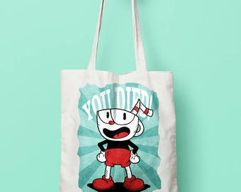 CUPHEAD | | Shopping Bag designed by us, with love.