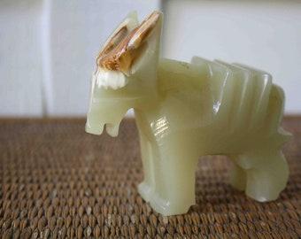 SALE Vintage donkey, democrat, democratic gift, marble donkey, stone donkey, onyx donkey, political gift