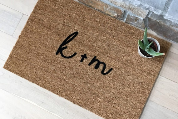 Wedding Gift Ideas, Wedding Gifts, Unique Gifts, Initials, Doormat, Personalized Gifts, Personalized Wedding Gifts