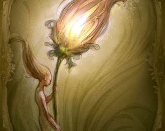 Lantern Flower Faerie by Renae Taylor