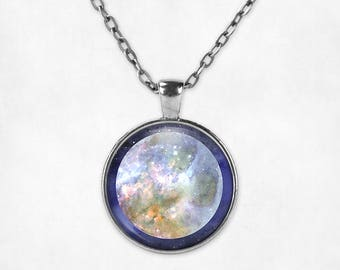 Pluto Pendant Necklace | Pluto Necklace Pluto Jewelry Planet Jewelry Space Jewelry Watercolor Galaxy Necklace Astronomy Science Space Grunge
