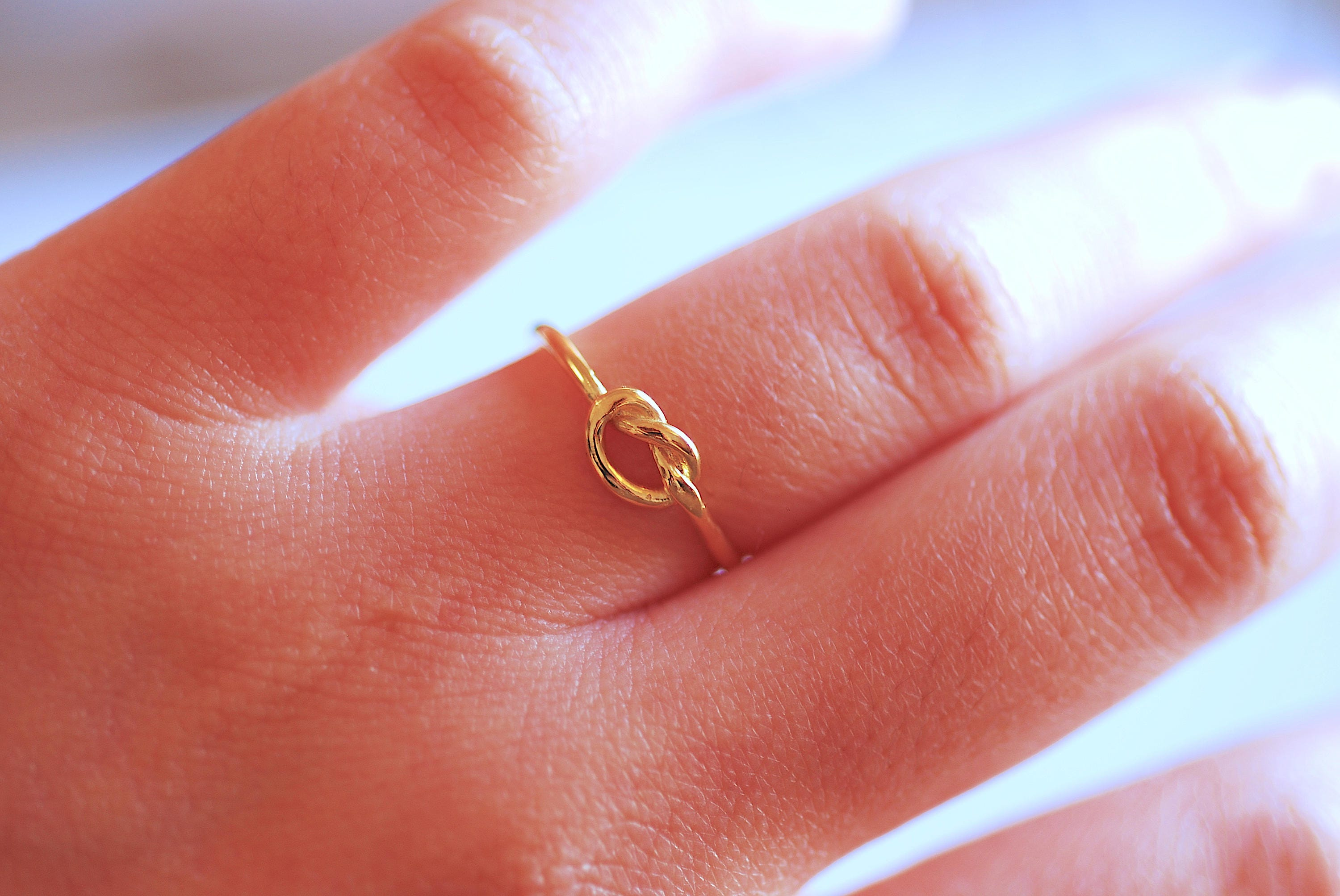 Shiny Gold Love Knot Ring Gold Love Knot adjustable ring