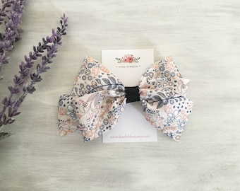 """GRAND OPENING! Girls Hair bow, Boutique Hair Bow, 4"""" Hair Bow, Toddler Girl Hair Bow, Girl Hair Bow, Floral Hair Bow"""