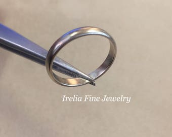 Sterling Silver 3mm Comfort Fit Band Size 8, Satin Finish  --Free Shipping--
