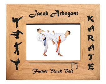 Personalized Black Belt Karate Frame