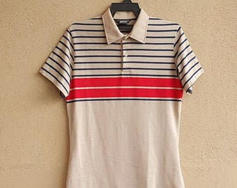 Vtg. Jantzen Striped Shirt Size M