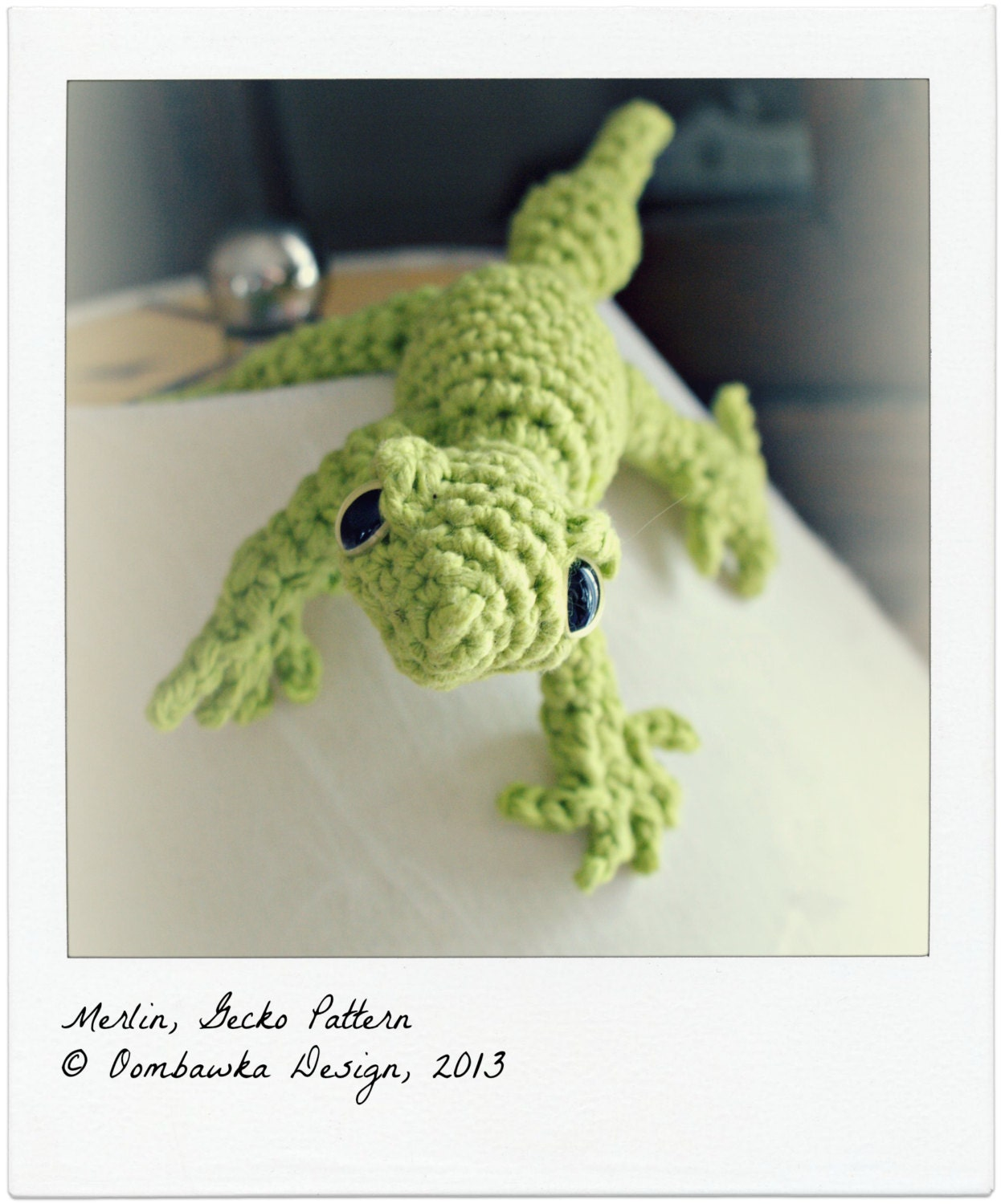 CROCHET PATTERN: MERLIN The Gecko Amigurumi