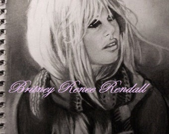 Brigitte Bardot - Charcoal Drawing Print - 8 X 10