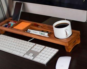 Berest Wood Desk Organizer, Desk Accessories, Personalized Office & Home Organizer, Office Desk Decor, Office Accessories, Unique Gift